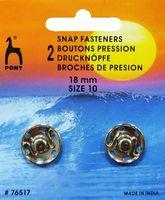 76517 Кнопки одежные Pony D18 мм, никель