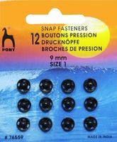 76559 Кнопки одежные Pony D9 мм, черные