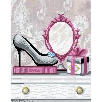 Т7 13 Зеркальце для модницы. Схема для вышивки бисером