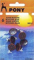 81202 Кнопки джинсовые Pony D17 мм, античная медь