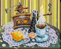 AB-531 Кофе с лимоном. Набор для вышивки бисером, холст