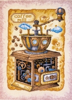 AH-040 Кофе в зернах. Набор для вышивки крестом