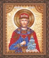 AA-001 Святой Дмитрий. Набор для вышивки бисером, холст