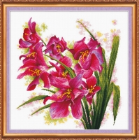 AH-003 Лиловые орхидеи. Набор для вышивки крестом