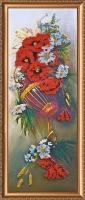 AB-001 Полевые цветы. Набор для вышивки бисером, холст