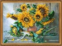 AB-266 Цветы солнца. Набор для вышивки бисером, холст