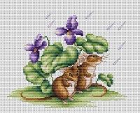B1041 Мышки. Набор для вышивки крестом