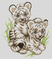 B189 Тигрята. Набор для вышивки крестом