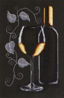 B2221 Бутылка с вином. Набор для вышивки крестом