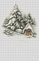 B2279 Зимний пейзаж. Набор для вышивки крестом