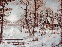 B321 Зимний пейзаж. Набор для вышивки крестом