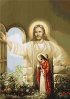 B411 Иисус стучащийся в дверь. Набор для вышивки крестом