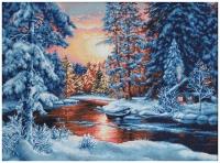 B477 Зимний пейзаж. Набор для вышивки крестом