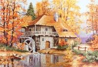 B481 Осенний пейзаж. Набор для вышивки крестом
