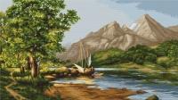 B502 Горное озеро. Набор для вышивки крестом