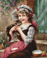 B538 Маленький котенок. Набор для вышивки крестом