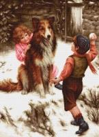 B540 Игра в снежки. Набор для вышивки крестом