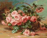 B547 Корзина с розами. Набор для вышивки крестом