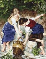 B564 У фонтана. Набор для вышивки крестом