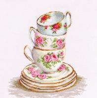 B2323 Три чайные чашки. Набор для вышивки крестом