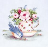 B2324 Птичка и чашка чая. Набор для вышивки крестом