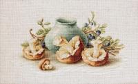 BL2247 Натюрморт с грибами. Набор для вышивки крестом
