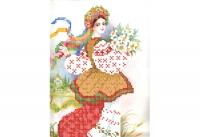 Г 01  УКРАИНОЧКА, Схема для вышивки бисером
