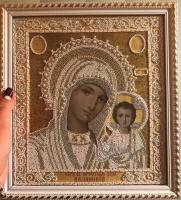 """Икона """"Божья Матерь Казанская"""" (жемчуг)"""