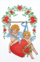 П2 002 ВЛЮБЛЕННЫЕ АМУРЫ. Набор для вышивки крестом