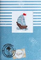 (S)F7 Набор для изготовления открытки с вышивкой