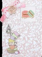 (S)P12 Набор для изготовления открытки с вышивкой