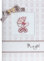 (S)P19 Набор для изготовления открытки с вышивкой