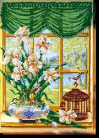 AB-455 За окном весна-1. Набор для вышивки бисером, холст